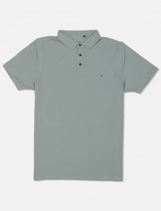 Kuch Kuch green solid polo t-shirt