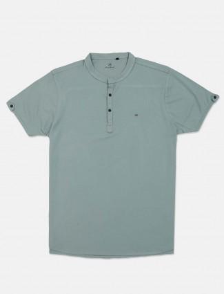 Kuch Kuch pista green solid t-shirt