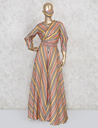 Latest multicolor designer cottonsilk jumpsuit for festives