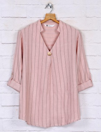 Latest pink top for women in cotton