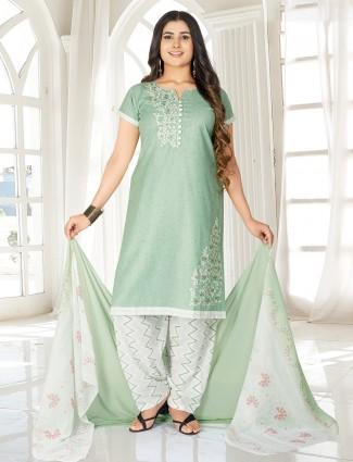 Latest pista green salwar suit in punjabi style