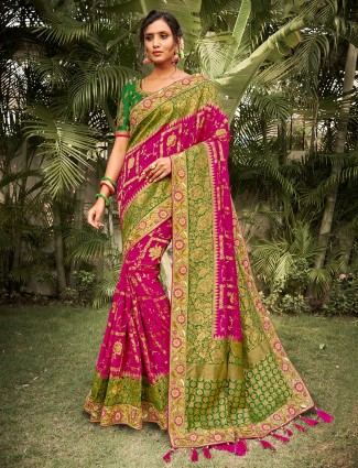 Latest purple silk saree for wedding