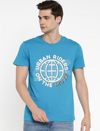 Lee blue color cotton t-shirt