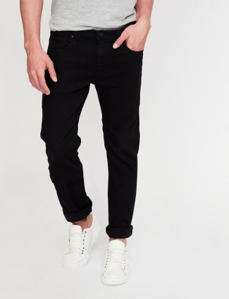 Lee jet black color denim jeans