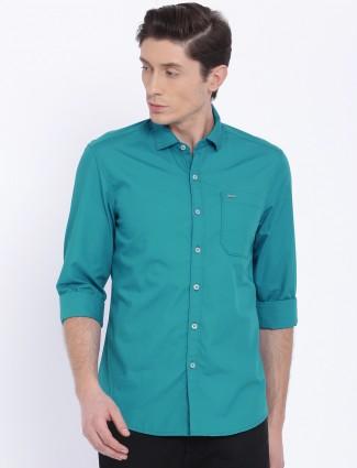 Lee plain blue color shirt