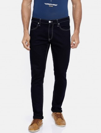 Lee solid navy jeans