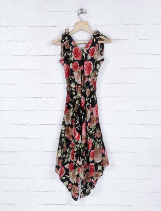 Leo N Babes black color printed cotton dress