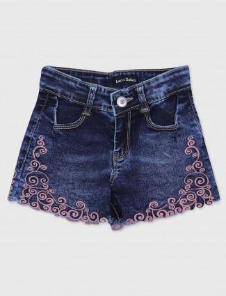 Leo N Babes casual denim shorts in navy blue