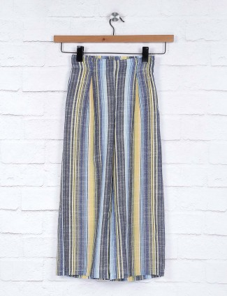 Leo N Babes cotton fabric grey and yellow palazzo