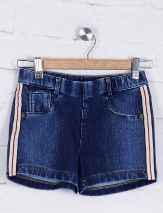 Leo N babes navy blue denim shorts