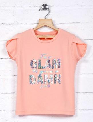 Leo N Babes peach colour cotton top