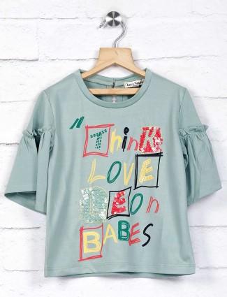 Leo N Babes printed green casual top