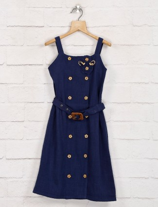 Leo N Babes solid navy linen frock