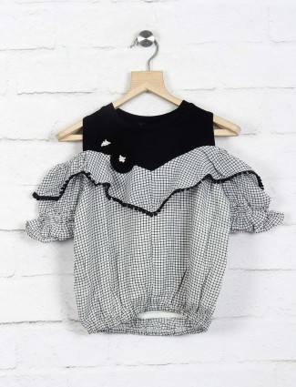 Leo N Babes white cotton casual wear top