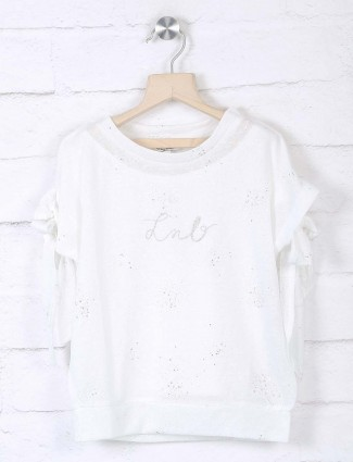 Leo N Babes white knitted top