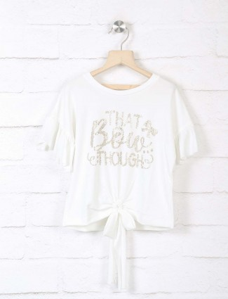 Leo N Babes white top for girls