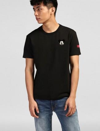 Levis black cotton casual t-shirt