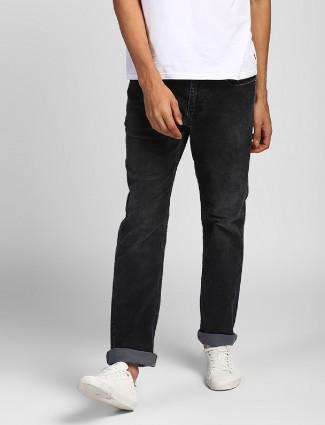 Levis black denim jeans for casual