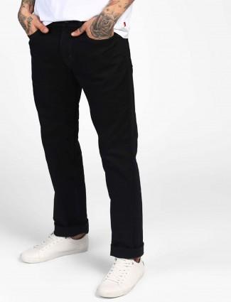 Levis black solid jeans