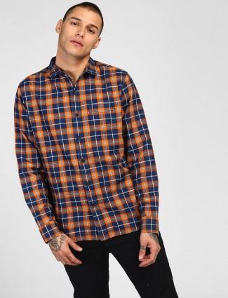 Levis blue and orange checks shirt