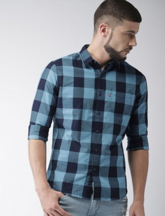 Levis blue checks shirt