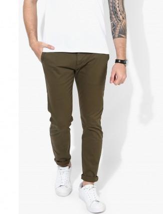 Levis brown slim fit trouser