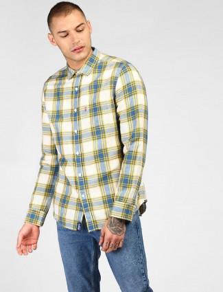 Levis cream color checks shirt