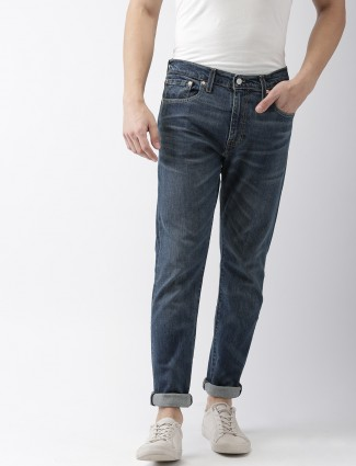 Levis dull blue slim fit jeans
