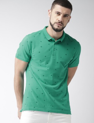 Levis green printed polo t-shirt