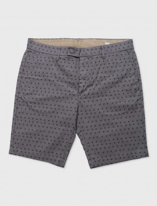 Levis grey color printed shorts