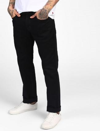 Levis jet black solid mens jeans