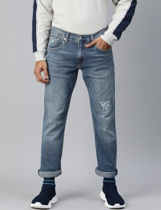 Levis latest ripped blue 65504 skinny jeans