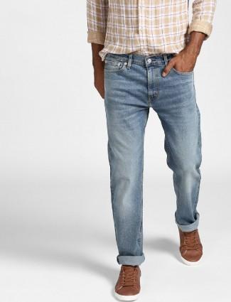 Levis light blue faded jeans