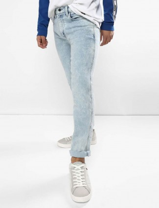 Levis light blue slim fit solid jeans