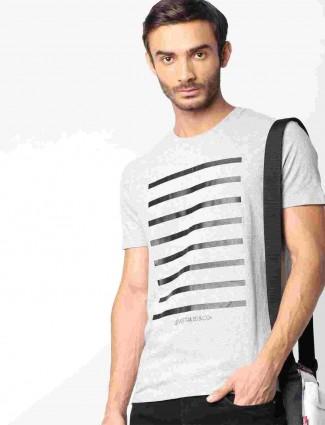 Levis mens grey stripe cotton t-shirt