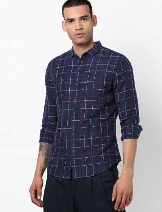 Levis navy casual shirt