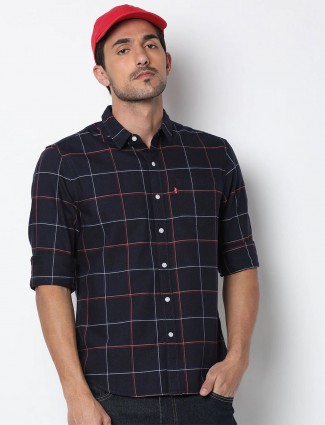 Levis navy checks patch pocket shirt