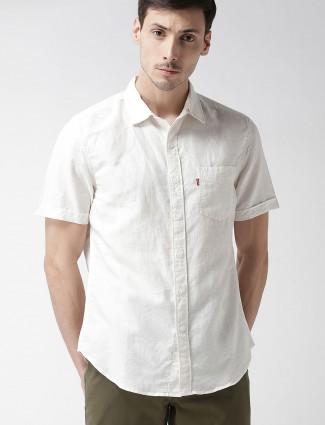 Levis off white cotton shirt
