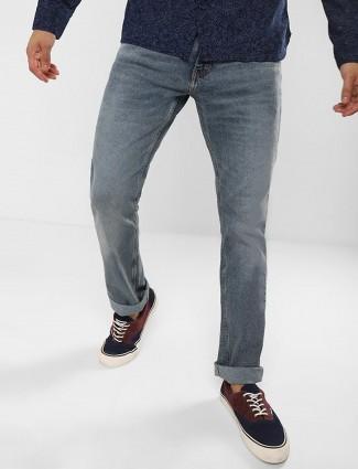 Levis plain blue hue jeans