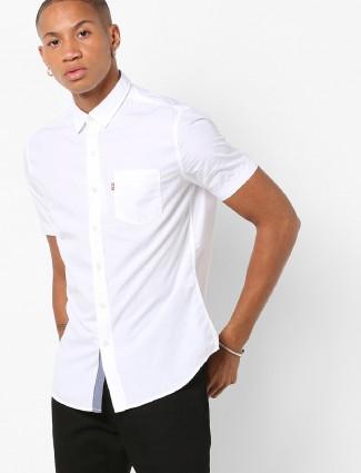Levis plain white casual shirt