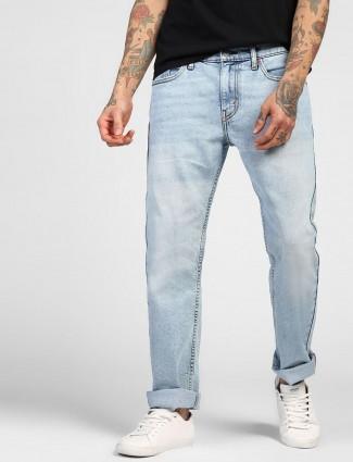 Levis presented sky blue hue jeans