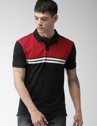 Levis red and black block t-shirt