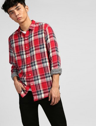 Levis red and grey reversible shirt