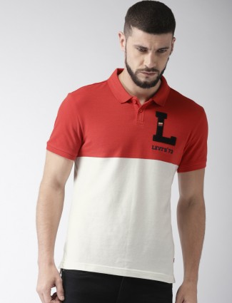 Levis red and white t-shirt