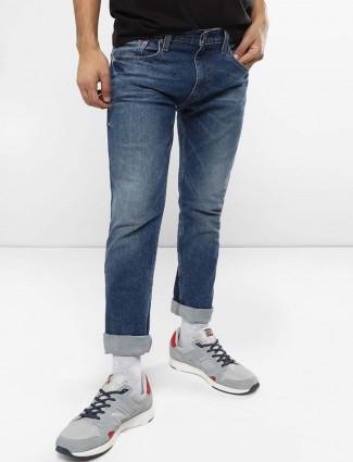Levis regular blue solid jeans