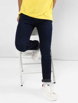Levis slim fit solid dark navy jeans