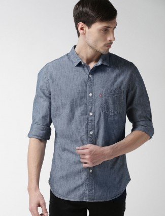 Levis solid grey shirt
