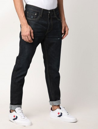 Levis solid navy 65504 skinny fit jeans