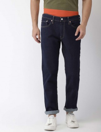 Levis solid navy colored mens jeans