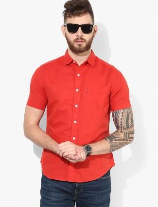 Levis solid orange hue shirt